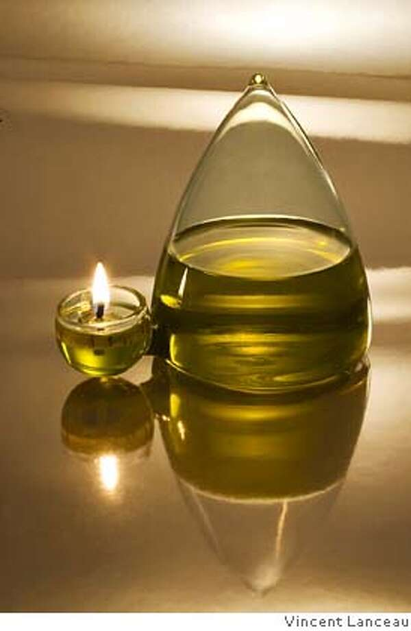 . It's a handout jpeg of an olive oil-burning lamp by Oliviers and Co. Photo: Vincent Lanceau