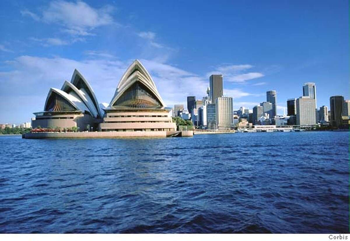 Sydney Opera House and skyline are pictured. Thousands of globe-trotting Australians are stranded abroad because of the Australian government's strict coronavirus quarantine standards.