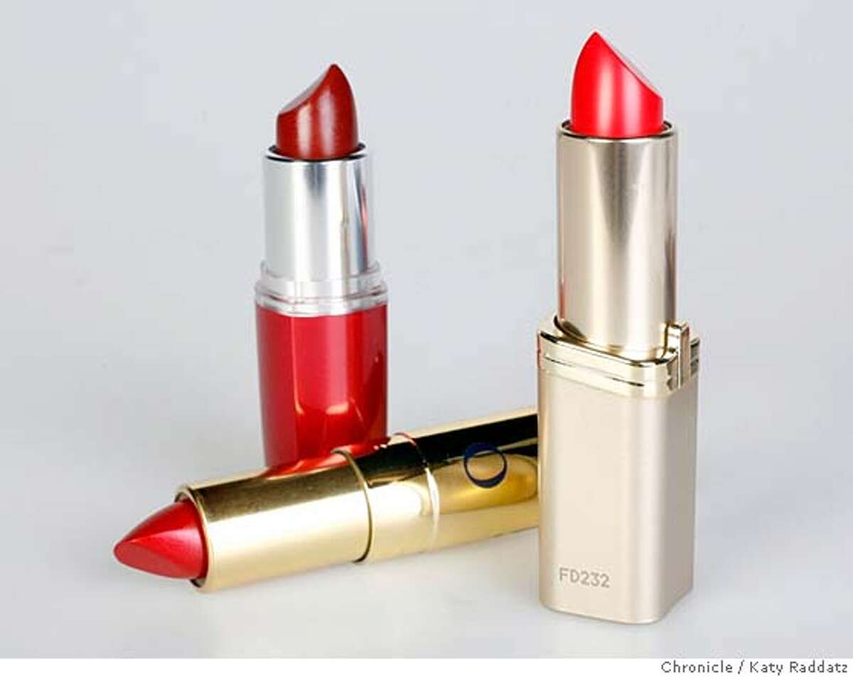 LIPSTICK25 L to R: Maybelline E215 (in red case), Dior Addict 857 Positive Red (laying down), L'Oreal Color Riche 350 British Red (silver case). Three lipsticks that have levels of lead that exceed the FDA's acceptable limit for candy. The Campaign for Safe Cosmetics released a report in October called,