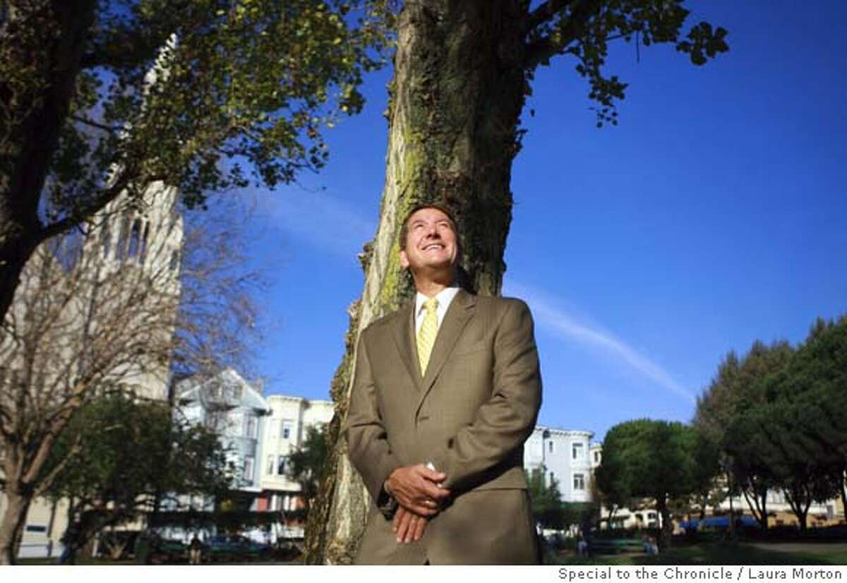 D'ALESSANDROxx_0026_LKM.jpg Joe D'Alessandro, president and CEO of the San Francisco Convention & Visitors Bureau, at Washington Square Park in San Francisco's North Beach neighborhood. The neighborhood has special significance to D'Alessandro as it is where his grandparents lived when they first immigrated to the United States. (Laura Morton/Special to the Chronicle) *** Joe D'Alessandro