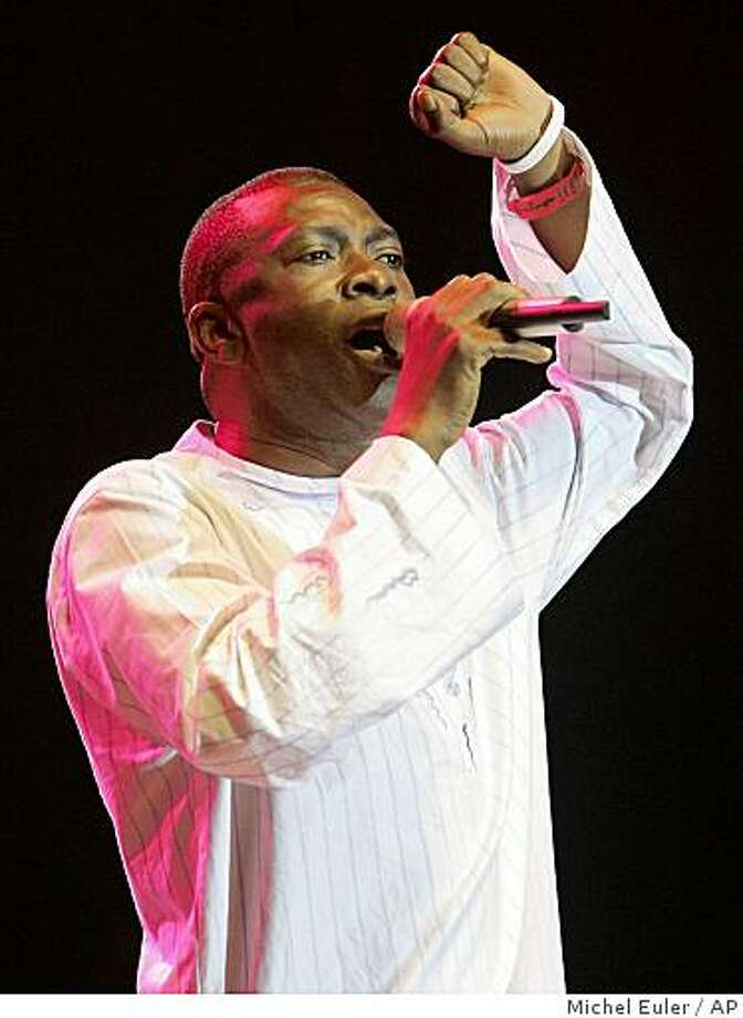 Singer Youssou N'Dour of Senegal Photo: Michel Euler, AP