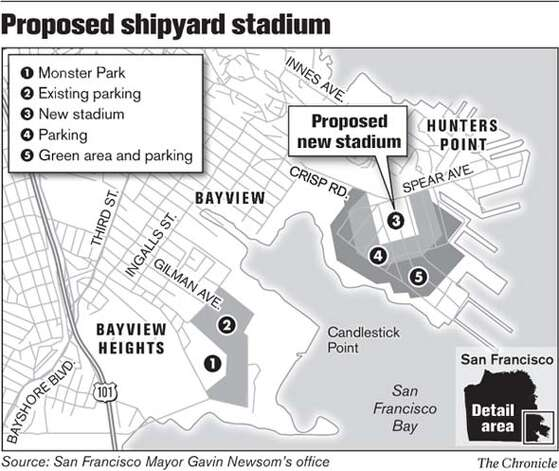 Proposed Shipyard Stadium. Chronicle Graphic