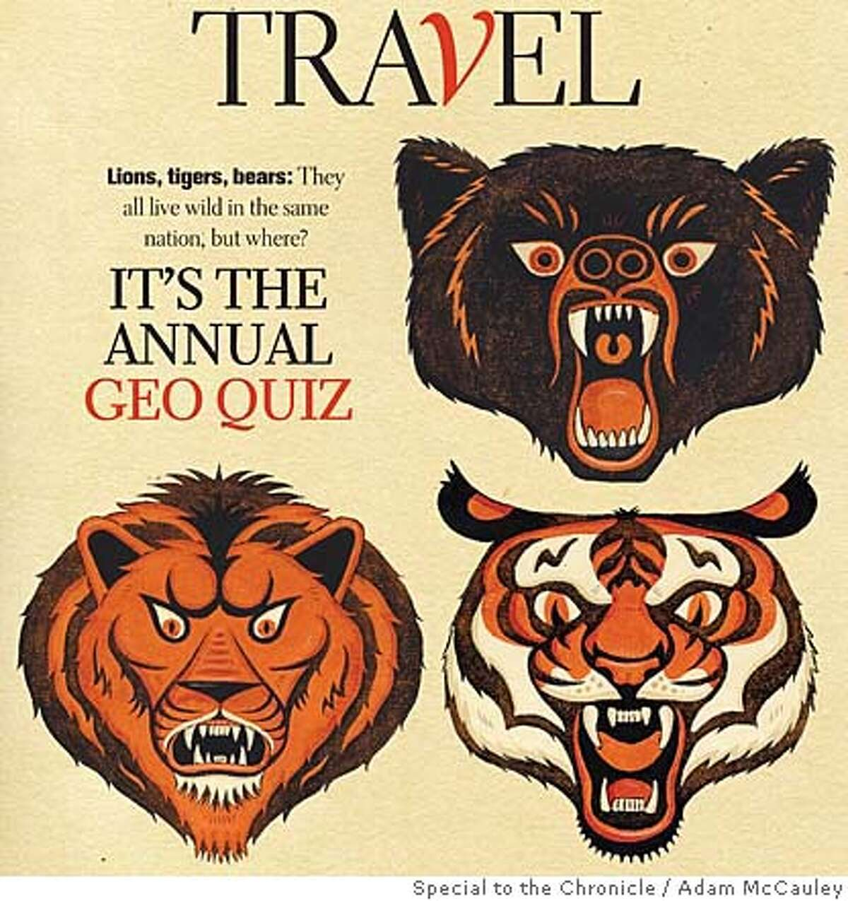 It's the annual Geo Quiz. Illustration by Adam McCauley, special to the Chronicle