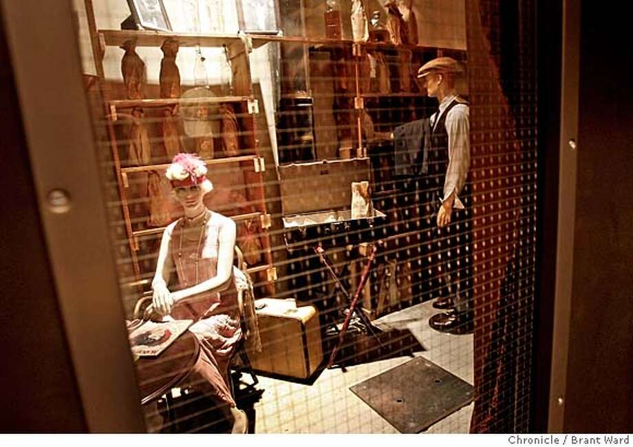speakeasy_508.JPG  The speakeasy at the Sir Francis Drake hotel can be seen entered from only one lobby elevator.  Around San Francisco there is still evidence of old speakeasies in hotels and some of the older downtown buildings. There are small, hidden rooms in both the Sir Francis Drake hotel and the St. Francis hotel. Also a slide used to carry patrons to their drink at the old Coffee Dan's on Mason Street downtown. {By Brant Ward/San Francisco Chronicle}11/8/07 Photo: Brant Ward
