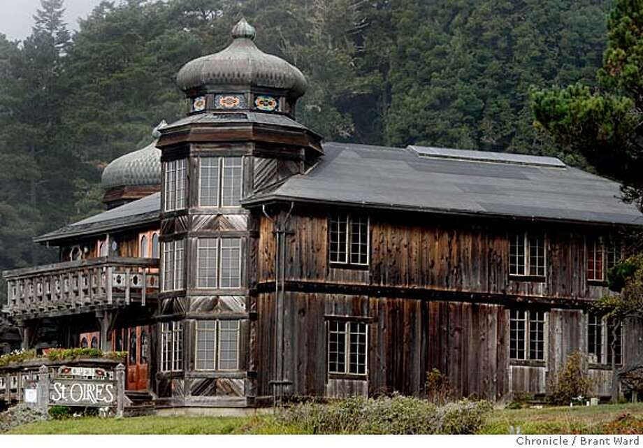 storres_194.JPG  The main building at St. Orres Hotel sits on a hillside as seen from northbound highway 1.  The Russian architecture St. Orres hotel sits right on highway 1 just north of Gualala. It features a number of cabins set in a redwood forrest and a Zagat rated restaurant in the main building. Just down the street is the lush Gualala Arts Center and beaches in nearby Sea Ranch to wander.  {By Brant Ward/San Francisco Chronicle}11/1/07 Photo: Brant Ward