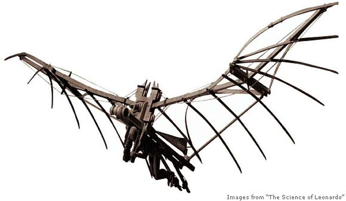 working model of Leonardoda Vinci�s flying machine