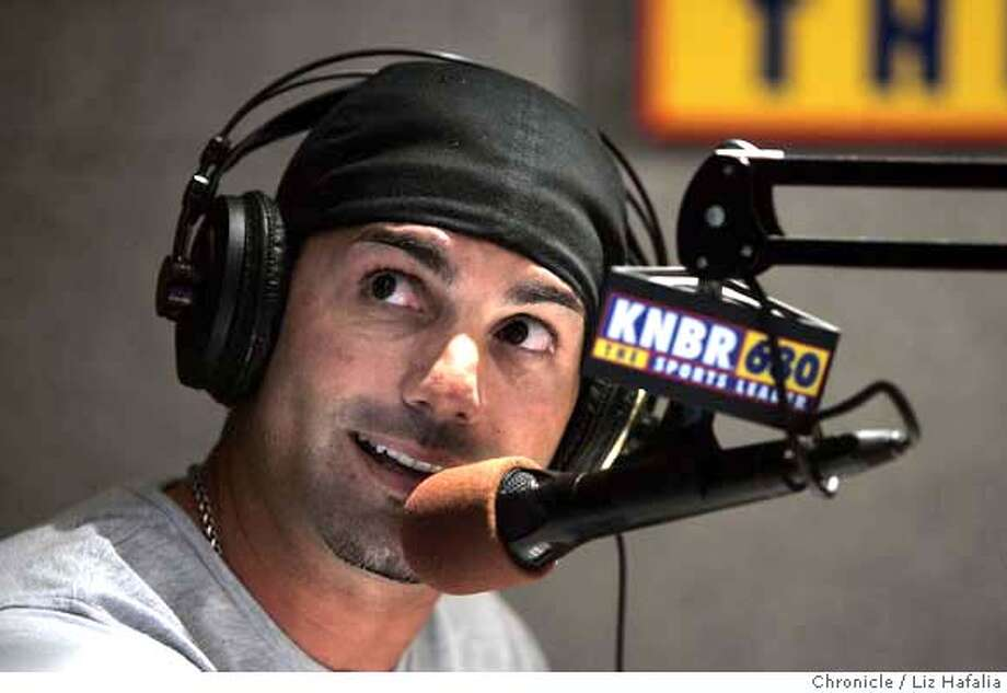 SANTANGELO11_030_LH.JPG When F.P. Santangelo is on KNBR sports talk radio, he wakes up his listeners with advice on love, dating, and tipping them off to where the actual Giants players might be hanging out when his show is done. Photographed by Liz Hafalia on 10/7/05 in San Francisco, California. SFC Ran on: 10-11-2005  Frank Paul Santangelo, better known to Bay Area sports fans as F.P., has traded in his baseball spikes for a broadcaster's microphone. Ran on: 10-11-2005 Ran on: 10-11-2005 Creditted to the San Francisco Chronicle/Liz Hafalia Photo: Liz Hafalia