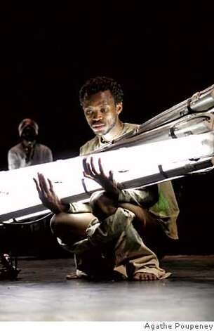 Festival of Lies  Faustin Linyekula, the contemporary dance visionary, returns to YBCA with an extraordinary dance theater experience: part installation, part party, part community event. In Festival of Lies, Linyekula, from the Democratic Republic of Congo, evokes the ruins of his native land. Amid a street-fair atmosphere, actors tell stories of daily life and lies of a country misled. Meanwhile, a band plays, audiences eat and drink, dancers create and destroy landscapes of urban detritus, and propaganda fills the air. Faustin Linyekula/Les Studios Kabako  Festival of Lies photo credit Agathe Poupeney Photo: Agathe Poupeney