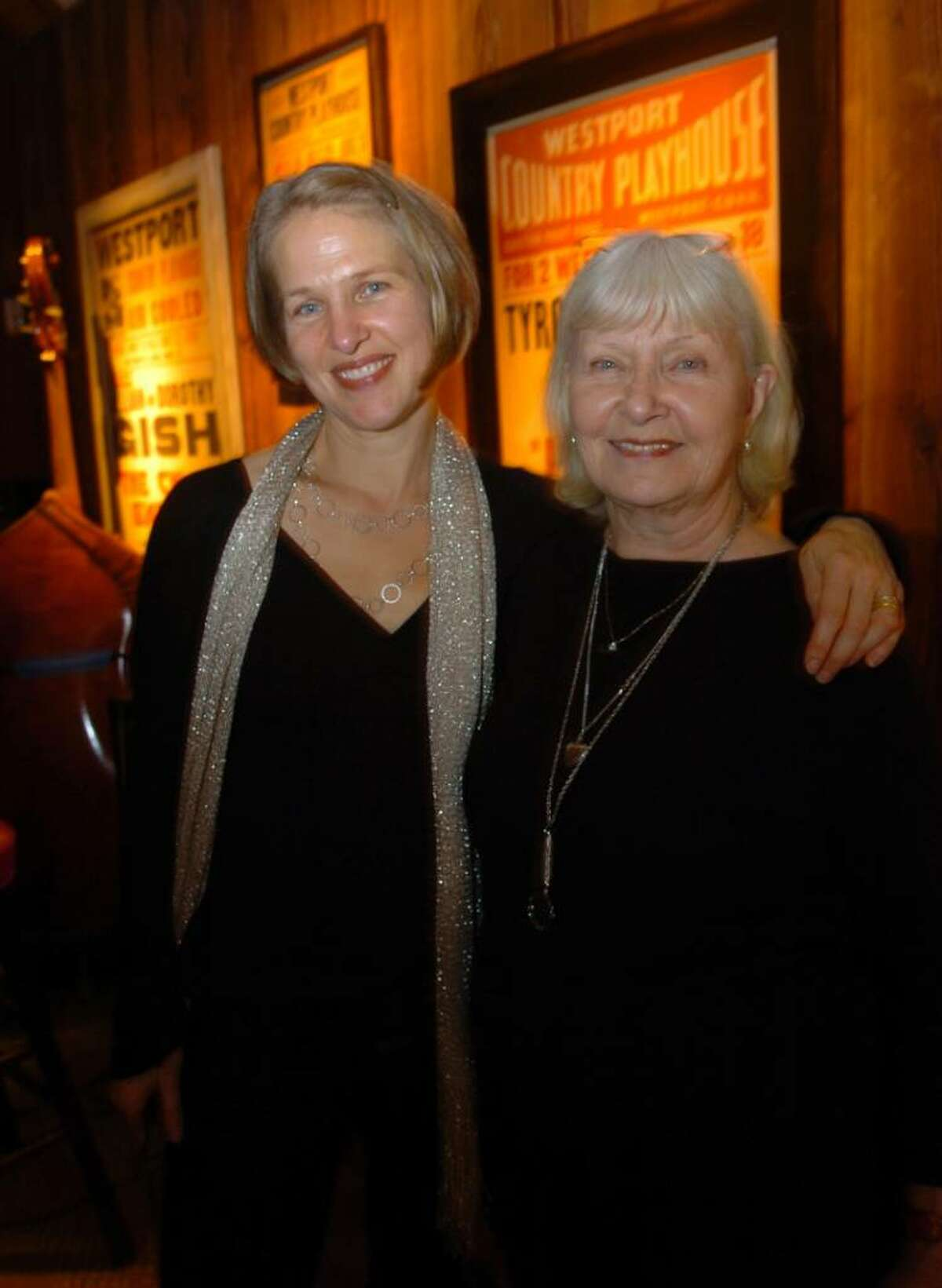 Lissy Newman with her mom, Joanne Woodward after her first set at The Dressing Room restaurant in Westport, Conn. on Friday Oct. 30, 2009. Lissy, the daughter of the late Paul Newman, has overcome her stagefright and become the resident singer at the restaurant.