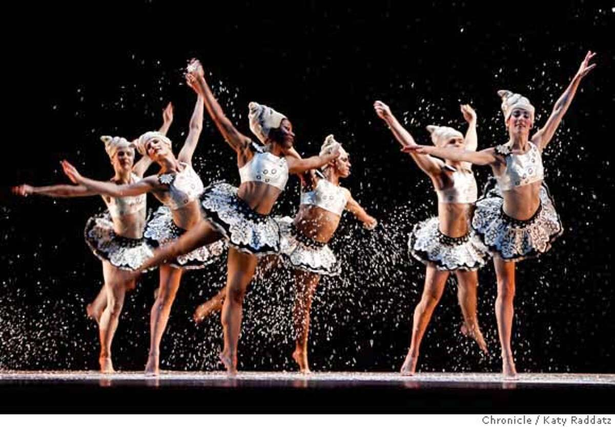 HARD The Snowflakes dance during the Mark Morris Dance Group performance of The Hard Nut at Zellerbach Hall on the UC Berkeley campus. These pictures were made on December 13, 2007, in Berkeley, CA. MANDATORY CREDIT FOR PHOTOG AND SAN FRANCISCO CHRONICLE/NO SALES-MAGS OUT