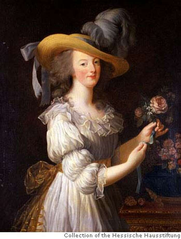 Elisabeth Louise Vig?e Le Brun (1755-1842) Marie-Antoinette en gaulle (Marie-Antoinette in a Muslin Dress), 1783. Oil on canvas. 36 ? x 31 1/8 in. (93.5 cm high; x 79 cm) wide. Collection of the Hessische Hausstiftung, Germany. Photo: Krause