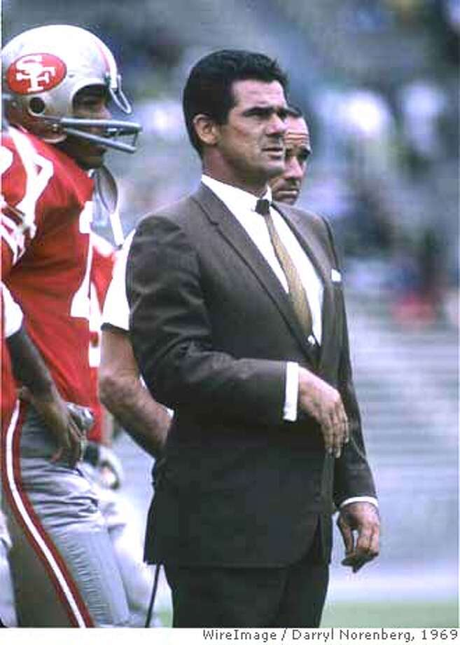 San Francisco 49ers head coach Dick Nolan during a 17-20 loss to the Dallas Cowboys on August 17, 1969 at Kezar Stadium in San Francisco, California.  NFL Preseason - San Francisco 49ers vs Dallas Cowboys - August 17, 1969  Kezar Stadium  San Francisco, California United States  August 17, 1969  Photo by Darryl Norenberg/WireImage (Newscom TagID: winfl179059) [Photo via Newscom] Photo: Darryl Norenberg