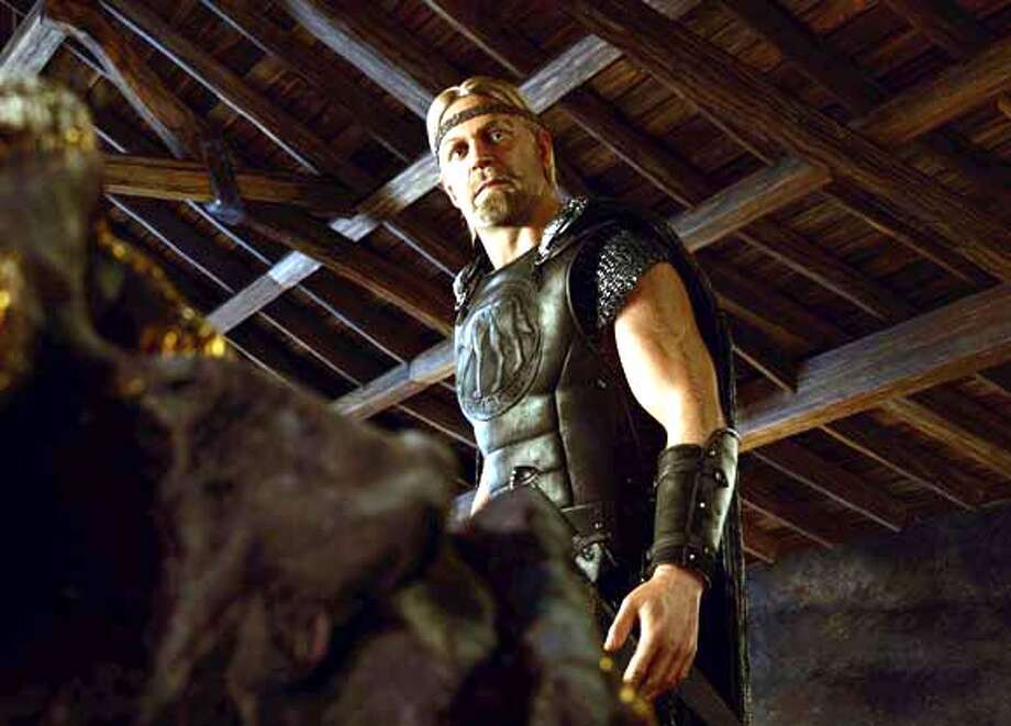 The Viking hero, Beowulf, promises to slay the monster that is terrorizing King Hrothgar�s kingdom in �Beowulf.� Photo: Paramount Pictures And Shangri-
