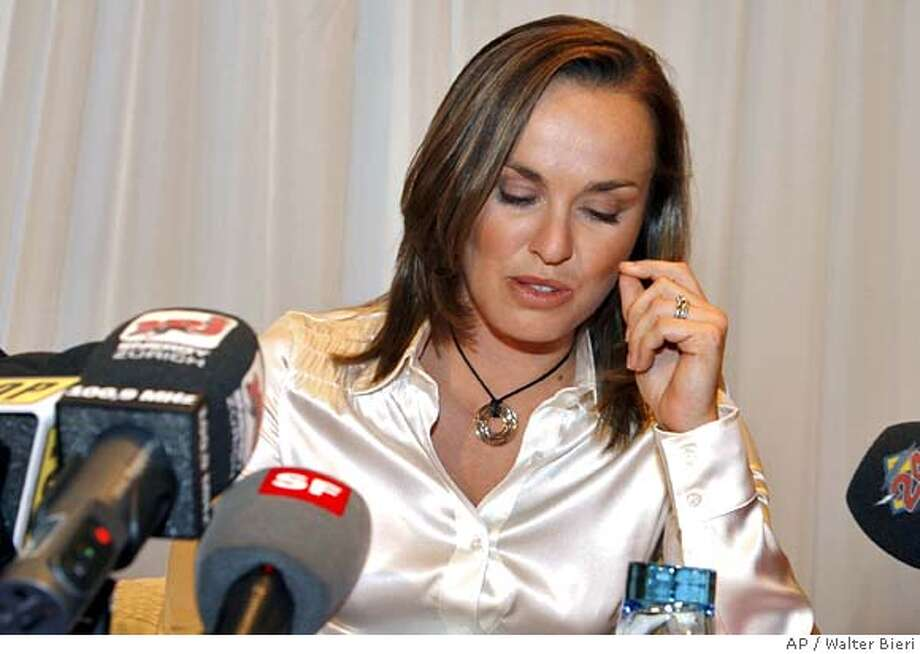 Swiss tennis player Martina Hingis faces the press, Thursday, Nov. 1, 2007 in Glattbrugg, Switzerland. Martina Hingis said she has been accused of testing positive for cocaine at Wimbledon, and announced her retirement from professional tennis. Hingis, a five-time Grand Slam champion and former Wimbledon winner, denied using cocaine. (AP Photo/Keystone/Walter Bieri) Photo: WALTER BIERI