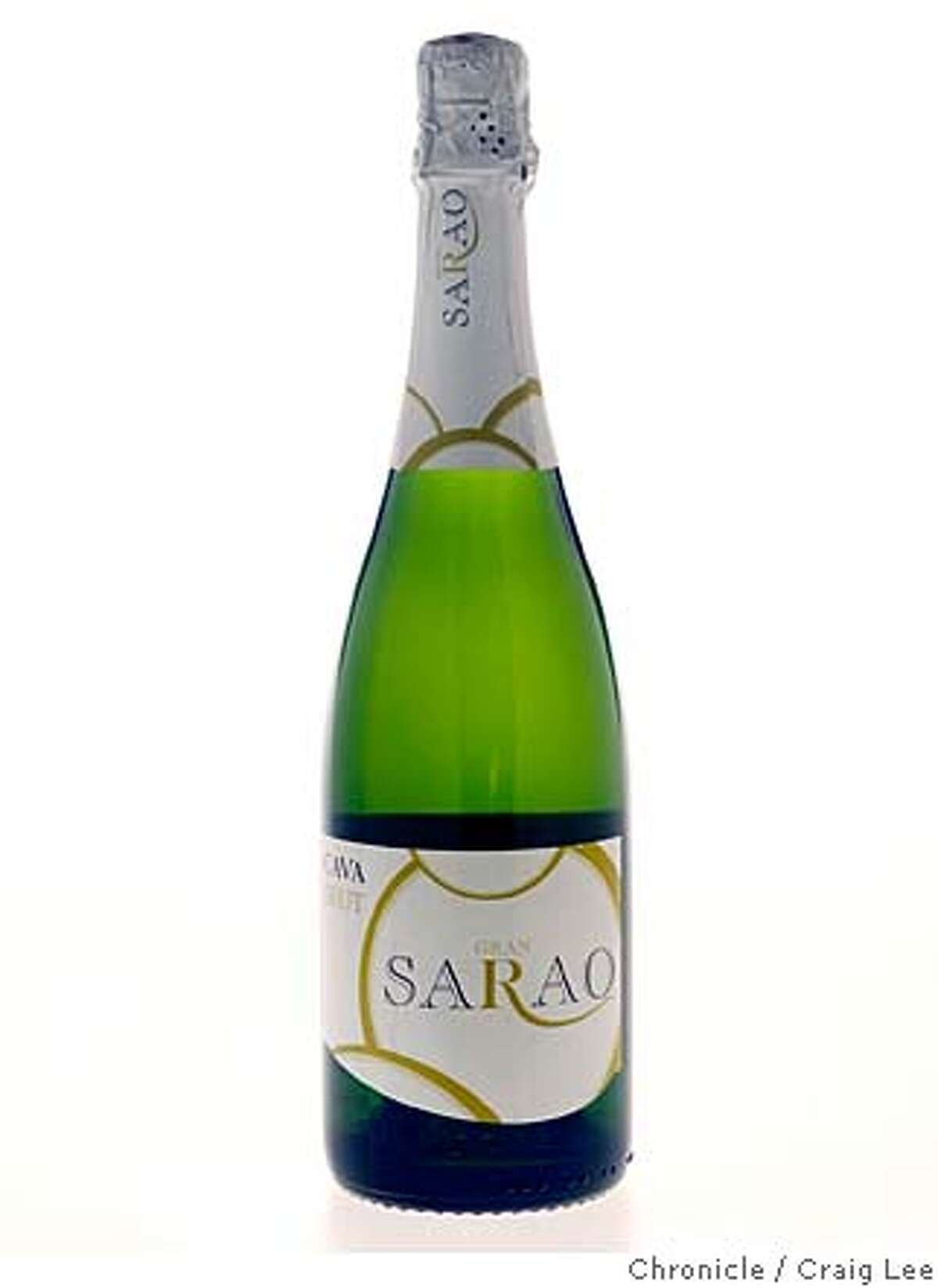 BUBBLY30_bottles_007_cl.JPG Photo of bottle of sparkling wine for Wine section Nov. 30 issue on sparkling wine. Photo of Gran Sarao Cava Brut. on 11/16/07 in San Francisco. photo by Craig Lee / The Chronicle MANDATORY CREDIT FOR PHOTOG AND SF CHRONICLE/NO SALES-MAGS OUT