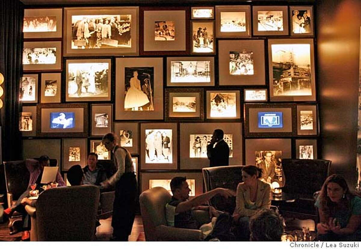 whats31-1300_005_ls.jpg A wall of historic photos decorate the wall at 1300 on Fillmore. The photos were curated by Elizabeth Pepin and Lewis Watts. New restaurant 1300 on Fillmore on 10/25/07 in San Francisco, {sate}. Lea Suzuki / The Chronicle Photo taken on 10/25/07 in San Francisco, CA, USA. �2007, San Francisco Chronicle MANDATORY CREDIT FOR PHOTOG AND SAN FRANCISCO CHRONICLE/NO SALES-MAGS OUT