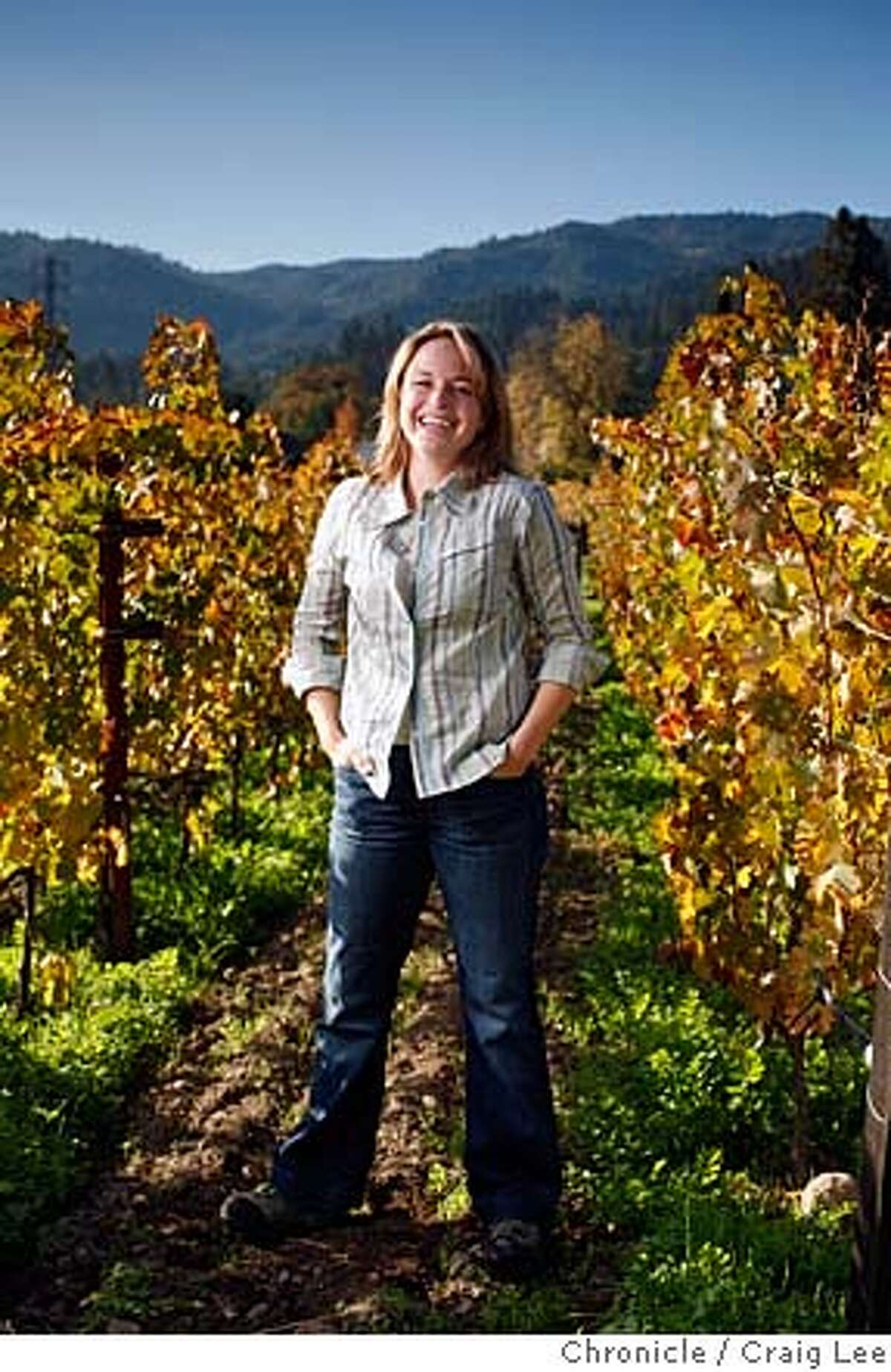 WINEMAKER07_575_cl.JPG Photo for story on this year's Winemaker of the Year and the five Winemakers to Watch. This is Jennifer Williams of Spottswoode Estate Vineyard and Winery in St. Helena. Jennifer is a Winemaker to Watch. on 11/27/07 in St. Helena. photo by Craig Lee / The Chronicle MANDATORY CREDIT FOR PHOTOG AND SF CHRONICLE/NO SALES-MAGS OUT