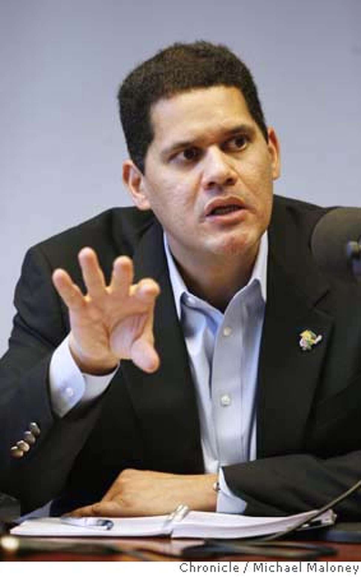 Reggie Fils-Aime, COO of Nintendo of America talks to the editorial board of the SF Chronicle. Photo taken at the Chronicle on 10/18/07. Photo by Michael Maloney / San Francisco Chronicle ***Reggie Fils-Aime MANDATORY CREDIT FOR PHOTOG AND SF CHRONICLE/NO SALES-MAGS OUT