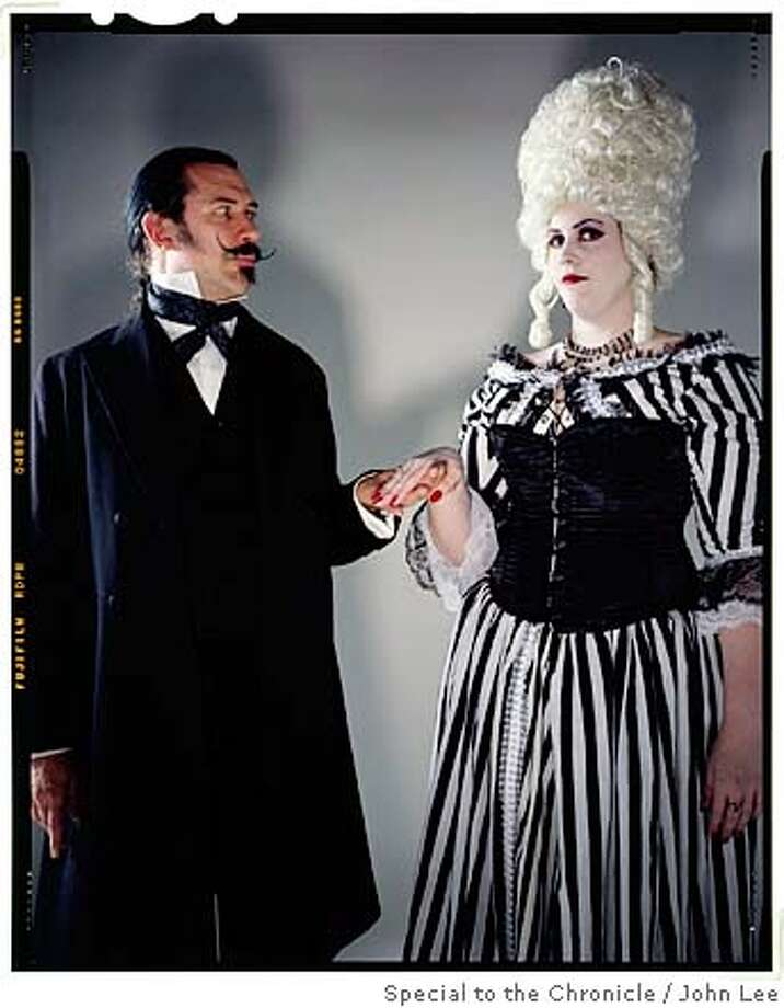 VAMPIRES28_01_JOHNLEE.JPG  Raymond Andre (cq), left, and Stasha Powell (cq) from the Period Events and Entertainments  Re-Creation Society (PEERS) Bal de Vampires group. Portraits taken inside Chronicle studio.  By JOHN LEE/SPECIAL TO THE CHRONICLE Photo: John Lee