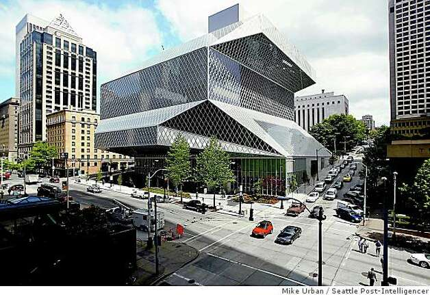 Seattle Central Library by Rem Koolhaas Photo: Mike Urban, Seattle Post-Intelligencer