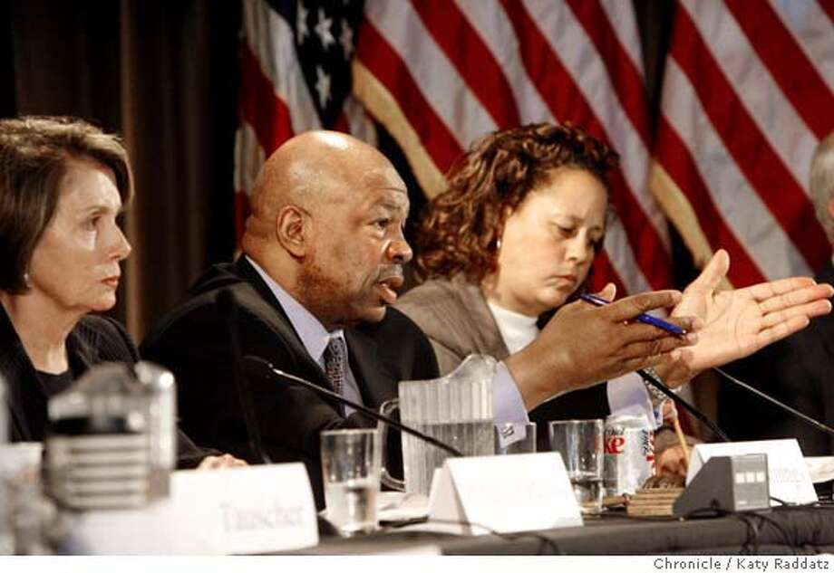 SPILL_HEARING  Elijah Cummings, the Chair of the Sub Committee for Coast Guard and Marinetime Transportation, poses questions to the panel at The Congressional Field Hearing on the Bay Oil Spill, held at the Golden Gate Club in the Presidio of San Francisco. These pictures were made on Monday, Nov. 19, 2007, in Pinole, CA. KATY RADDATZ/The Chronicle  Photo taken on 11/19/07, in San Francisco, CA, USA MANDATORY CREDIT FOR PHOTOG AND SAN FRANCISCO CHRONICLE/NO SALES-MAGS OUT Photo: KATY RADDATZ