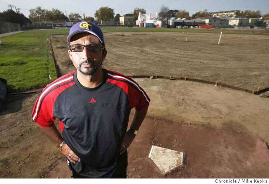Oakland Tech Baseball Coach Eric Clayton says he is the brain child behind a getting new baseball field built at Verdese Carter Junior High in Oakland using donated labor and materials. The $1.2 million dollar field is expected to completed in February 2008. Mike Kepka / The Chronicle Photo taken on 10/25/07, in Oakland, CA, USA MANDATORY CREDIT FOR PHOTOG AND SAN FRANCISCO CHRONICLE/NO SALES-MAGS OUT Photo: Mike Kepka