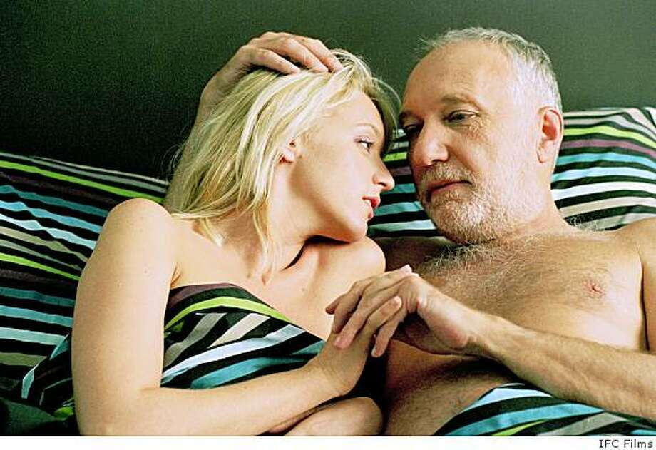 """Ludivine Sagnier and Francois Berleand in Claude Chabrol's """"The Girl Cut in Two"""" (2007) Photo: IFC Films"""