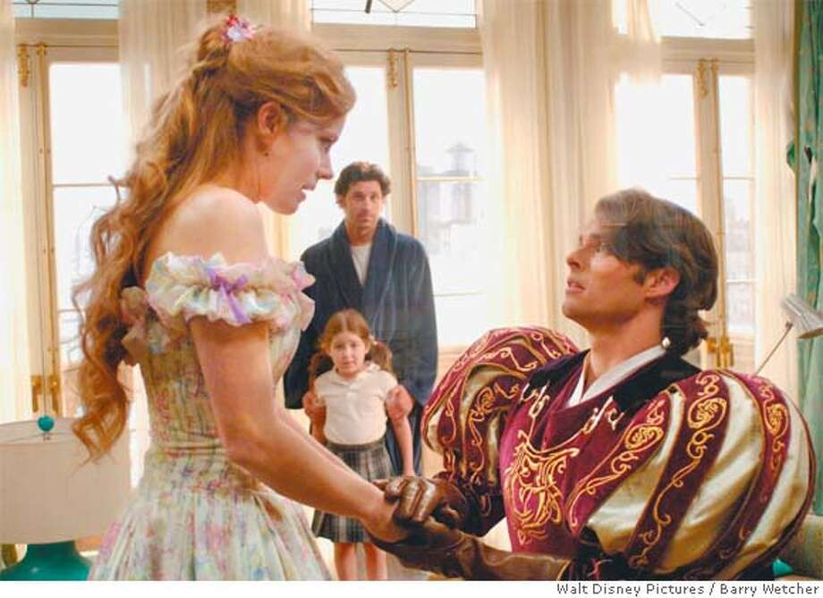 Amy Adams(from left), Rachel Covey, Patrick Dempsey and James Marsden in �Enchanted.�