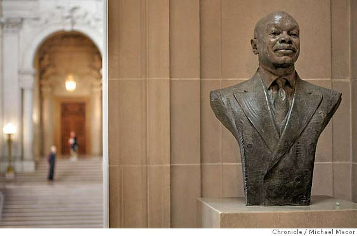 The presence of former Mayor Willie Brown still remains just outside the Mayor's officce. City Hall. Reinventing the City. A look at the City of San Francisco 15 years after the Loma Prieta Eathquake struck the bay Area. e 10/7/04 San Francisco, CA Michael Macor / San Francisco Chronicle
