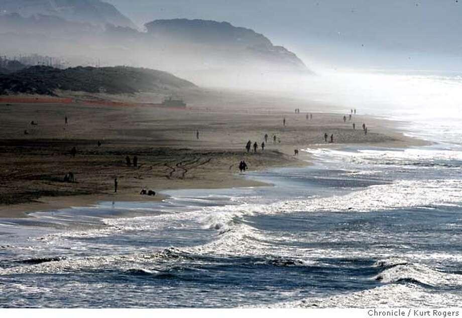 Ocean Beach People Ocean Beach in San Francisco