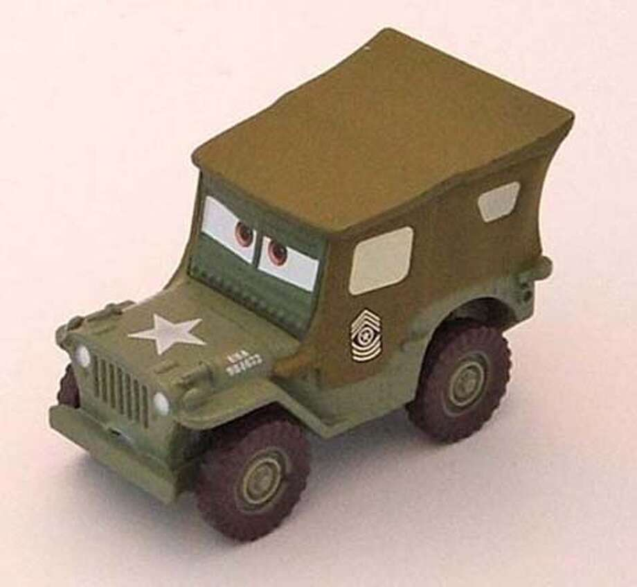 """picture of """"Sarge"""" the die cast toy car was recalled today by the U.S. Consumer Product Safety Commission and Mattel toys.  Ran on: 08-15-2007  Harper Glass, 3, looks at other toys at Action Figure Freddy in the Mission after &quo;Sarge&quo; was pulled from the shelves.  Ran on: 08-15-2007  Harper Glass, 3, looks at other toys at Action Figure Freddy in the Mission after &quo;Sarge&quo; was pulled from the shelves. MANDATORY CREDIT FOR PHOTOG AND SAN FRANCISCO CHRONICLE/NO SALES-MAGS OUT Photo: CPSC"""