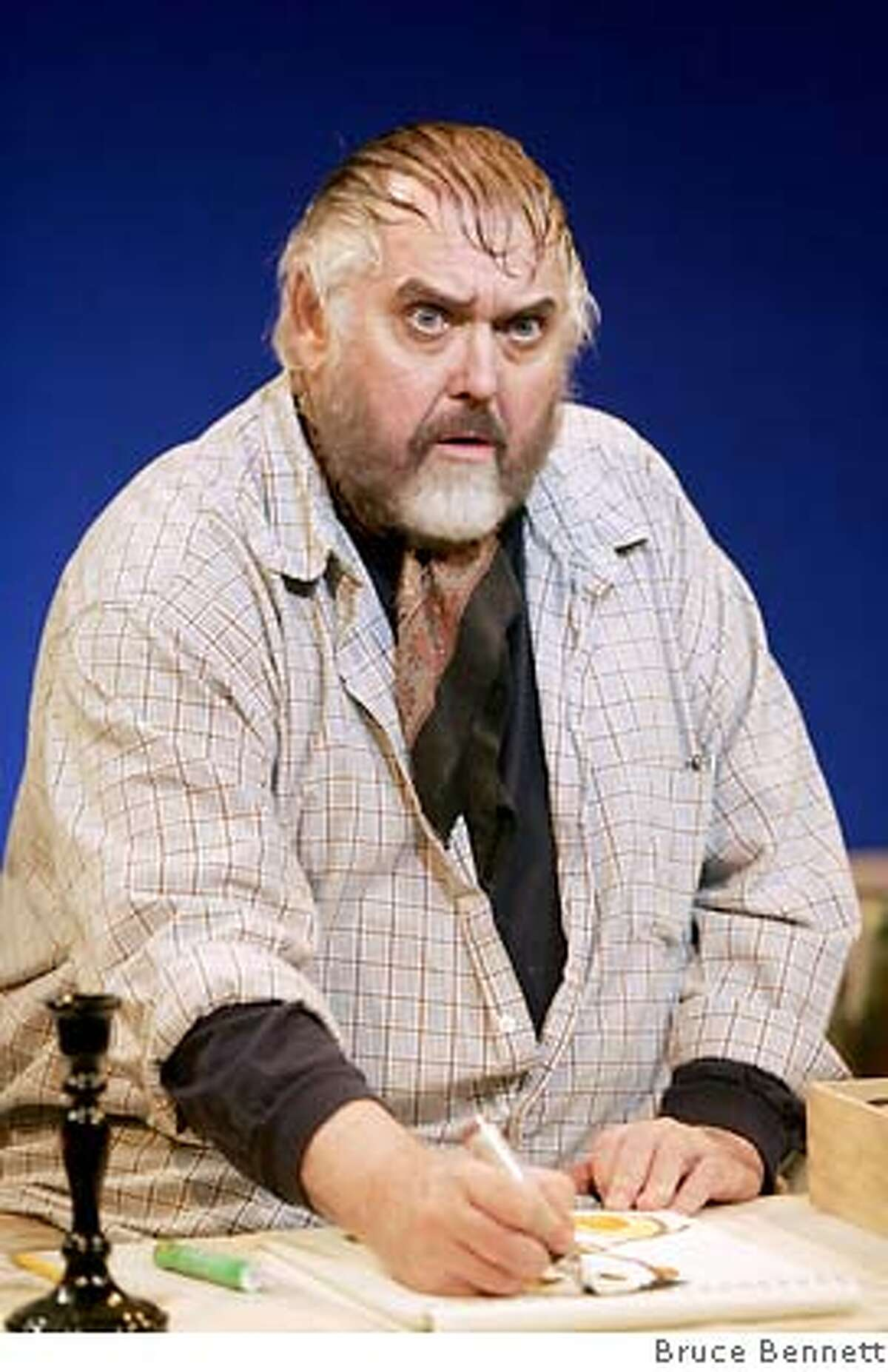 Jim Brochu as Zero Mostel in Stages Repertory Theatre's production of Brochu's one-man show ZERO HOUR.