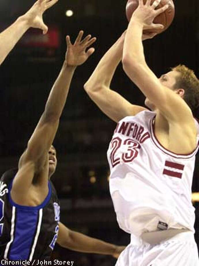 Stanford's Casey Jacobsen made the 13-foot, game-winning shot. Chronicle photo by John Storey