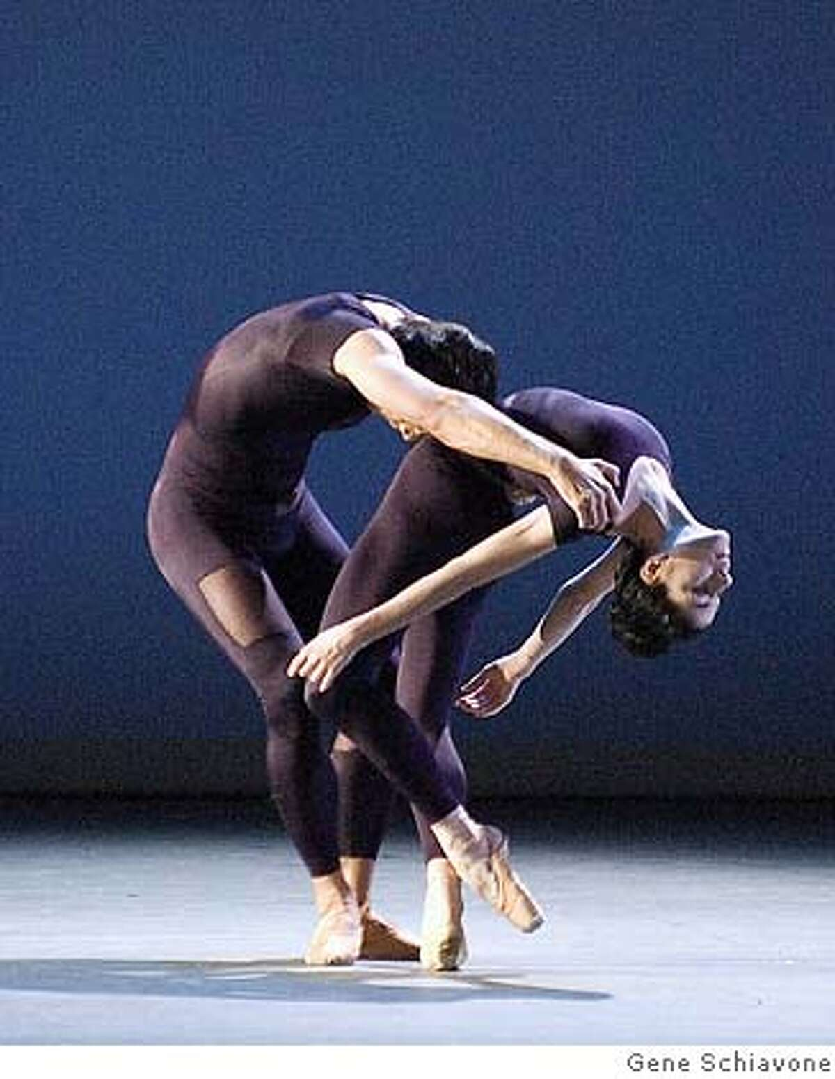 Pictured: Kristi Boone and Jared Matthews of American Ballet Theatre perform in Jorma Elo's C. to C. (Close to Chuck) as part of Cal Performances programs November 7-11, 2007 . PHOTO: Rosalie O'Connor Ran on: 11-12-2007 Jared Matthews and Kristi Boone dance in Jorma Elos C. to C. (Close to Chuck) by the American Ballet Theatre.