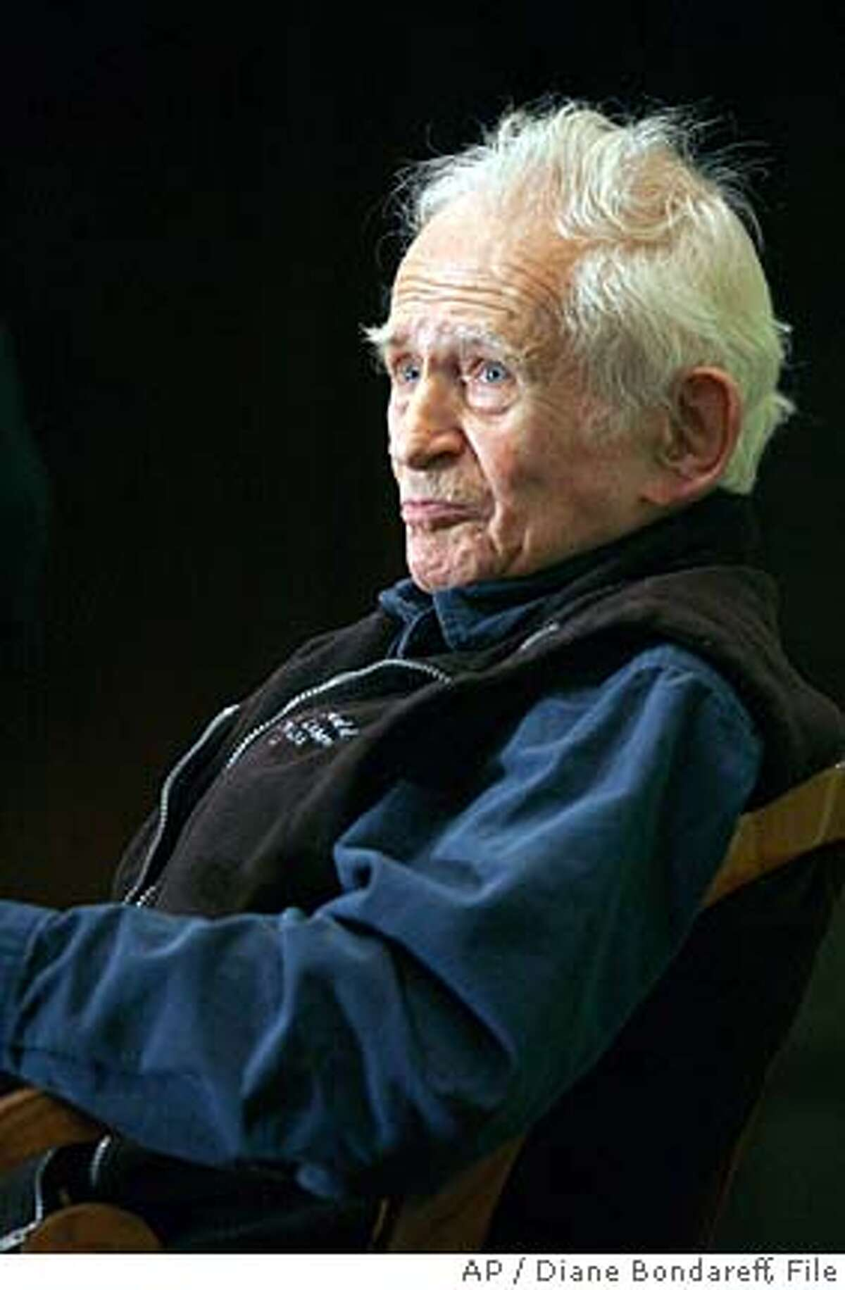 ** FILE ** Pulitzer Prize-winning author Norman Mailer attends a lecture entitled 'The 20th Century on Trial' at the New York Public Library, in this June 27, 2007 file photo, in New York. Mailer, the macho prince of American letters who for decades reigned as the country's literary conscience and provocateur, died of renal failure early Saturday, his literary executor said. He was 84. (AP Photo/Diane Bondareff)