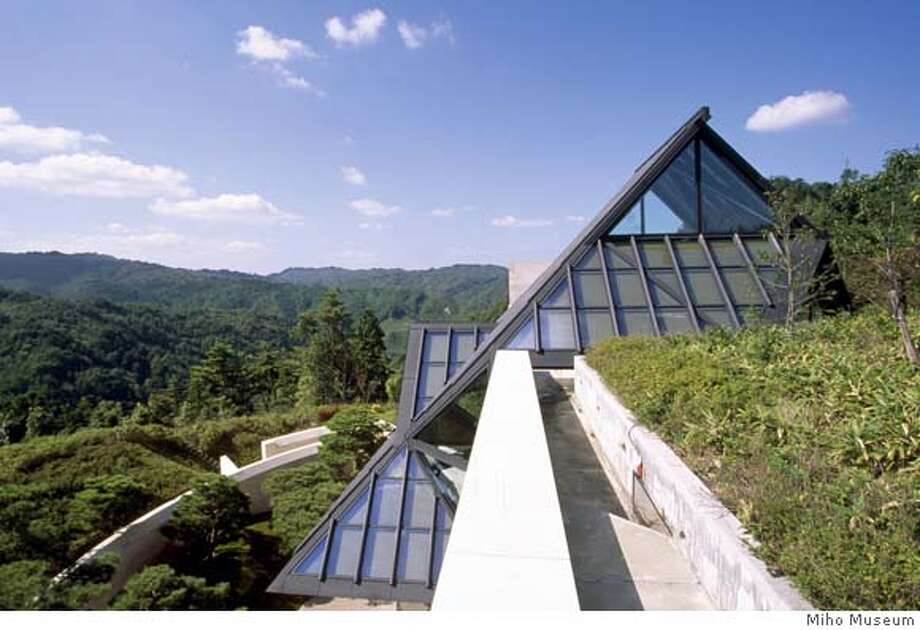 15 Nov 2001, Kyoto, Japan --- Miho Museum in the Shiga Mountains was designed by Japanese architect I.M.Pei. --- Image by � Atlantide Phototravel/Corbis  Ran on: 11-18-2007  The Miho Museum, on a nature preserve in the mountains near Kyoto, Japan, minimizes explanatory text in its collections. Photo: Stefano Amantini