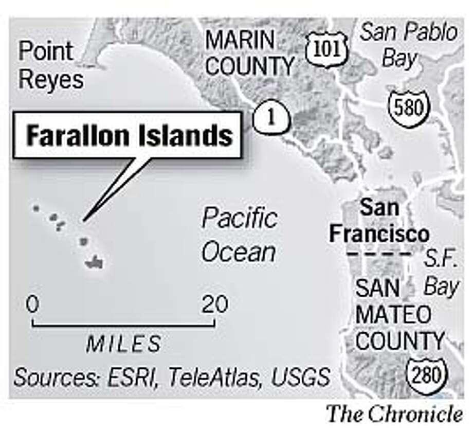 Farallon Islands. Chronicle Graphic