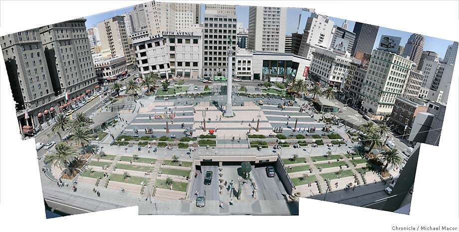 Union Square. Reinventing San Francisco. A look at the City 15 years after the Loma Prieta Earthquake that rocked the Bay Area and changed the look of the San Francisco forever. on 8/20/04. Michael Macor / San Francisco Chronicle Photo: Michael Macor