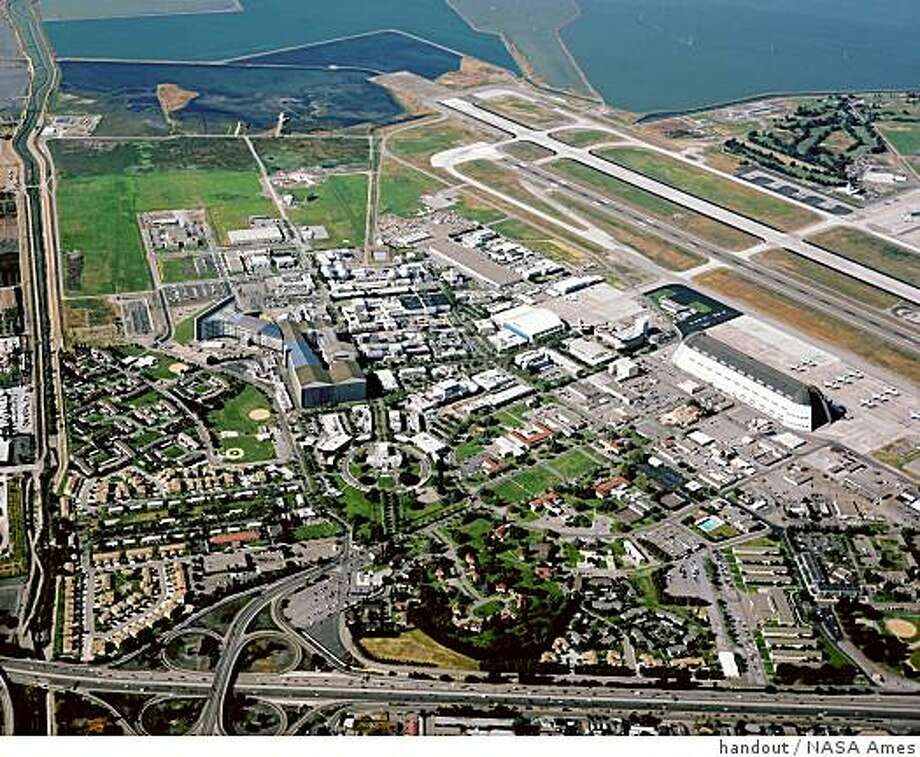 An aerial view of NASA Ames in Mountain View Photo: Handout, NASA Ames