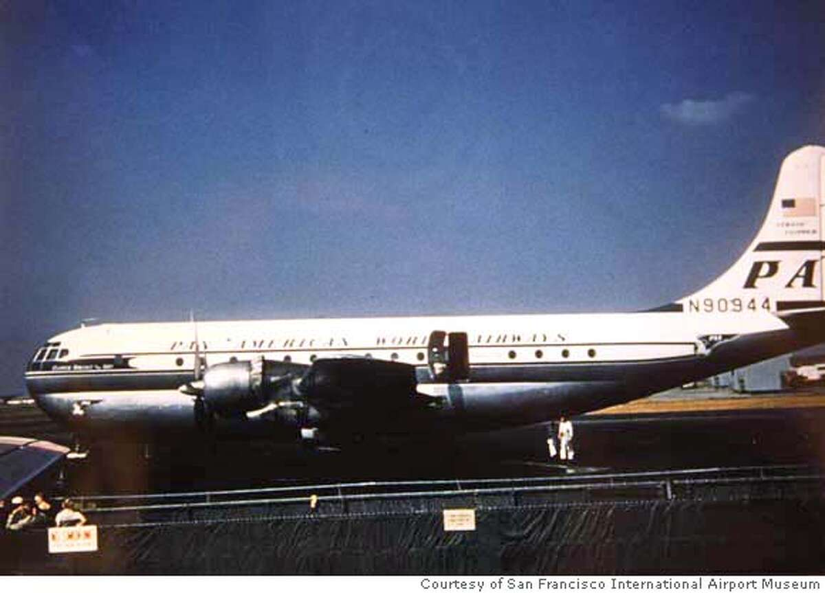 crashanniv_004_df.jpg This is a copy photograph of the airplane that crashed. The three Fortenberry brothers came to SFO on the 50th anniversary of the day their father, William Fortenberry, piloted a Pan Am airplane that never reached its final destination in Honolulu and remains a mystery. Courtesy of San Francisco International Airport Museum Mandatory credit for photographer and San Francisco Chronicle. No Sales/Magazines out.