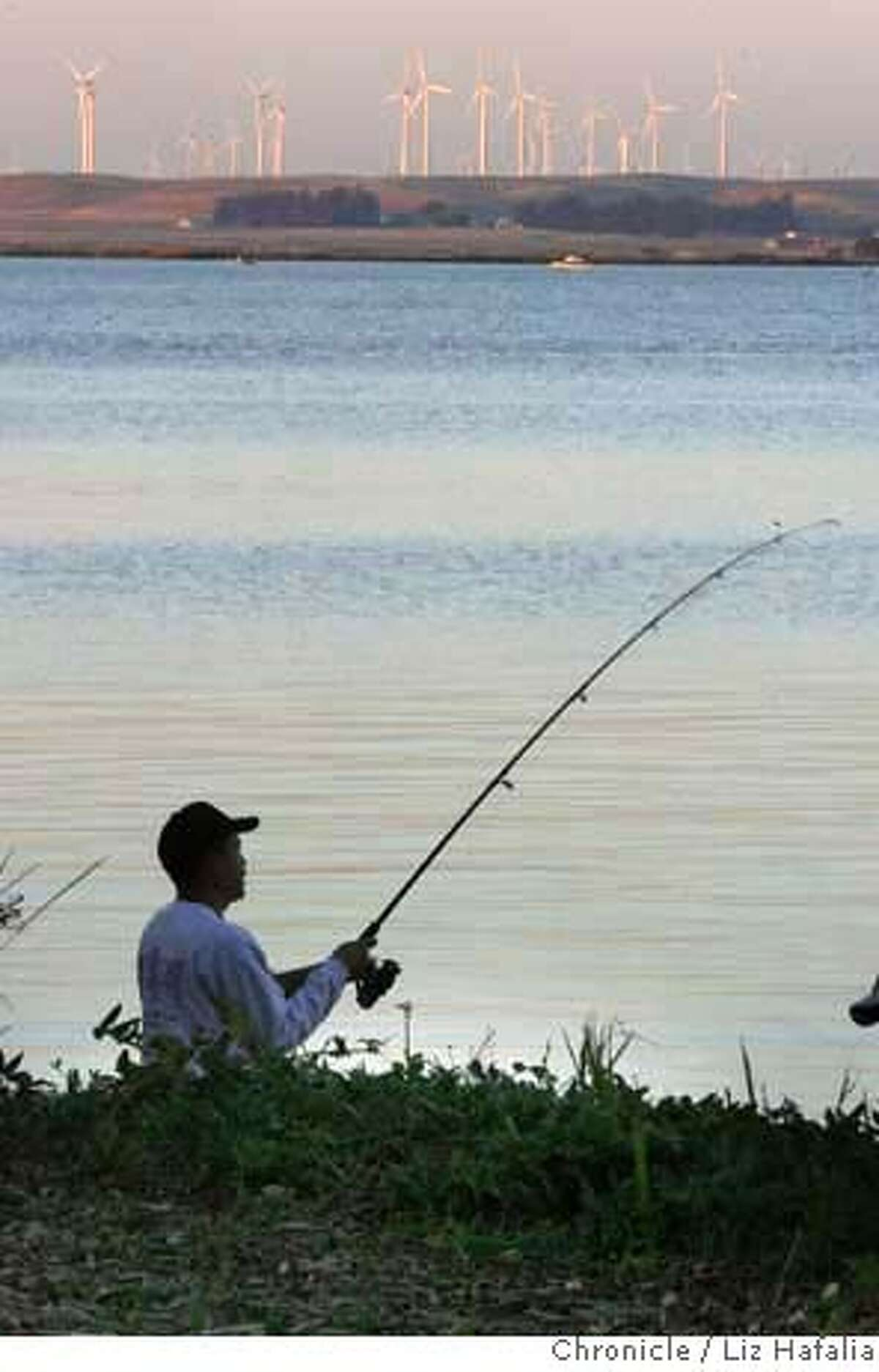 MERCURY_031_LH.JPG The results of a $4.5 million dollar three-year project to test fish will be known to bay area anglers such as Juan Ramirez, from Concord, fishing at Pittsburg Marina. Liz Hafalia/The Chronicle/San Francisco/11/2/07 ** Juan Ramirez cq �2007, San Francisco Chronicle/ Liz Hafalia MANDATORY CREDIT FOR PHOTOG AND SAN FRANCISCO CHRONICLE. NO SALES- MAGS OUT.