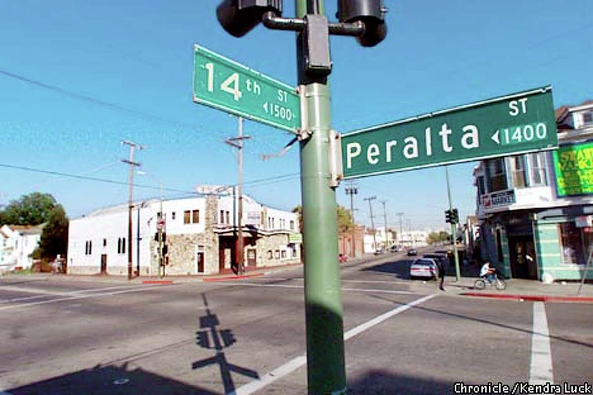 The corner 14th and Peralta is considered the center of West Oakland and ground zero for the four Oakland police officers known as