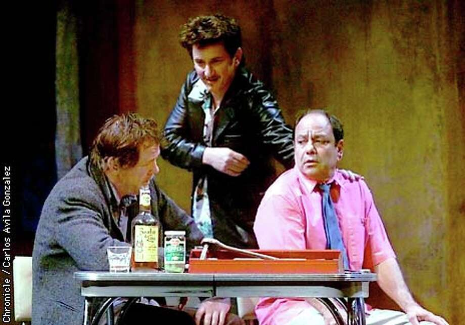 """Nick Nolte, Sean Penn and Cheech Marin in the Magic Theatre's production of Sam Shepard's """"The Late Henry Moss"""": familiar mythic territory. Chronicle photo by Carlos Avila Gonzalez"""