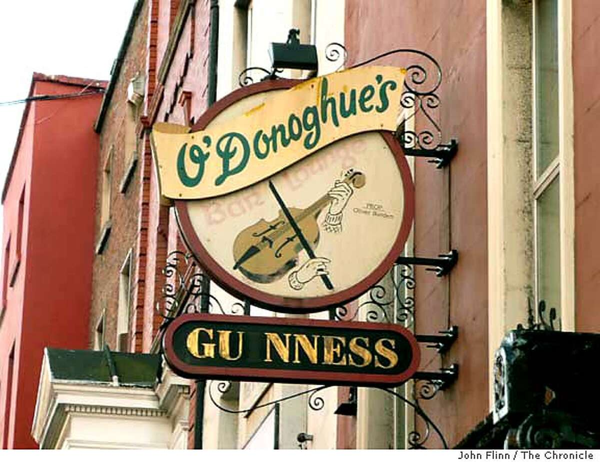 The city's traditions also live on in its pubs, such as O'Donoghue's. Chronicle photo by John Flinn