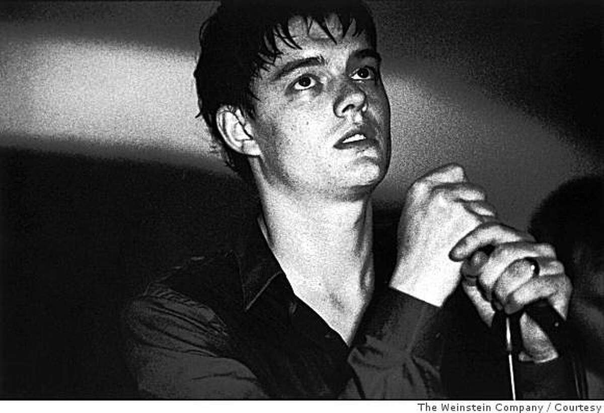 Sam Riley plays Ian Curtis, lead singer in the influential late-'70s band Joy Division.