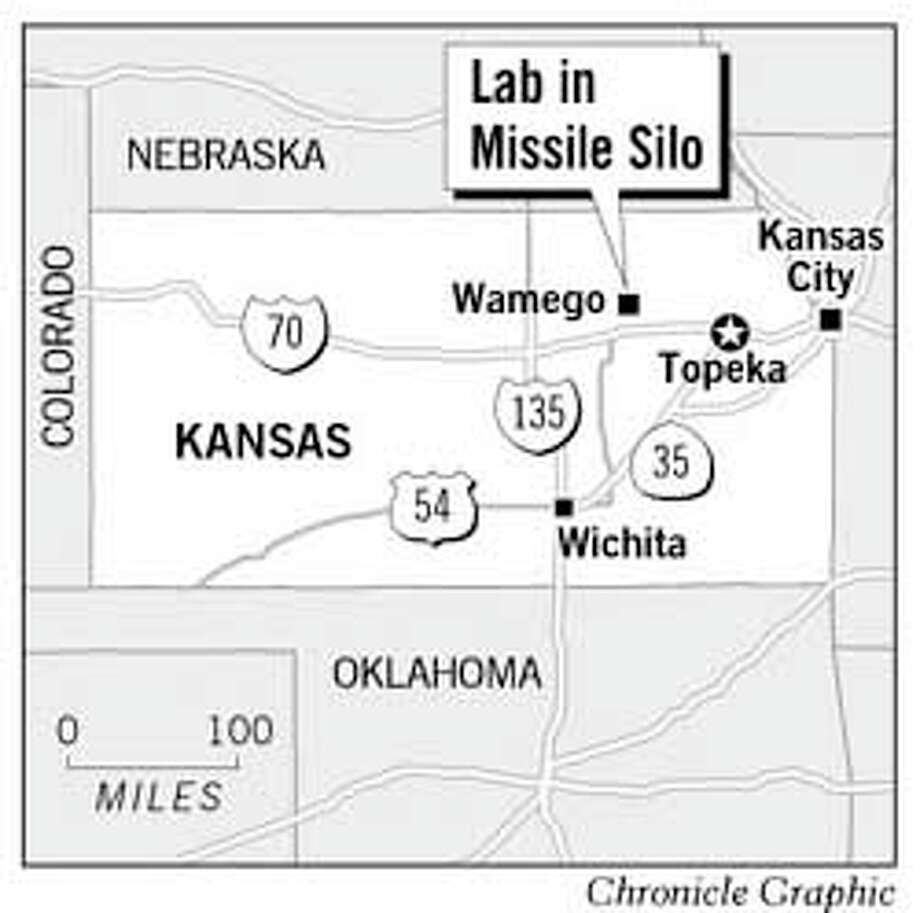 Lab in Missile Silo. Chronicle Graphic
