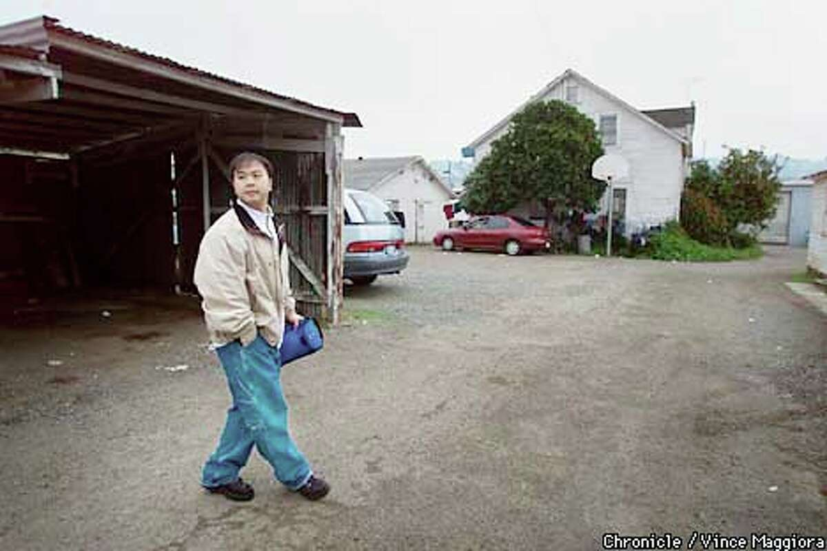 Dressed in casual office attire, Nai Fou Saechao left home for the BART in Richmond to travel to Street Tech, a computer training program in San Pablo. Chronicle photo by Vince Maggiora