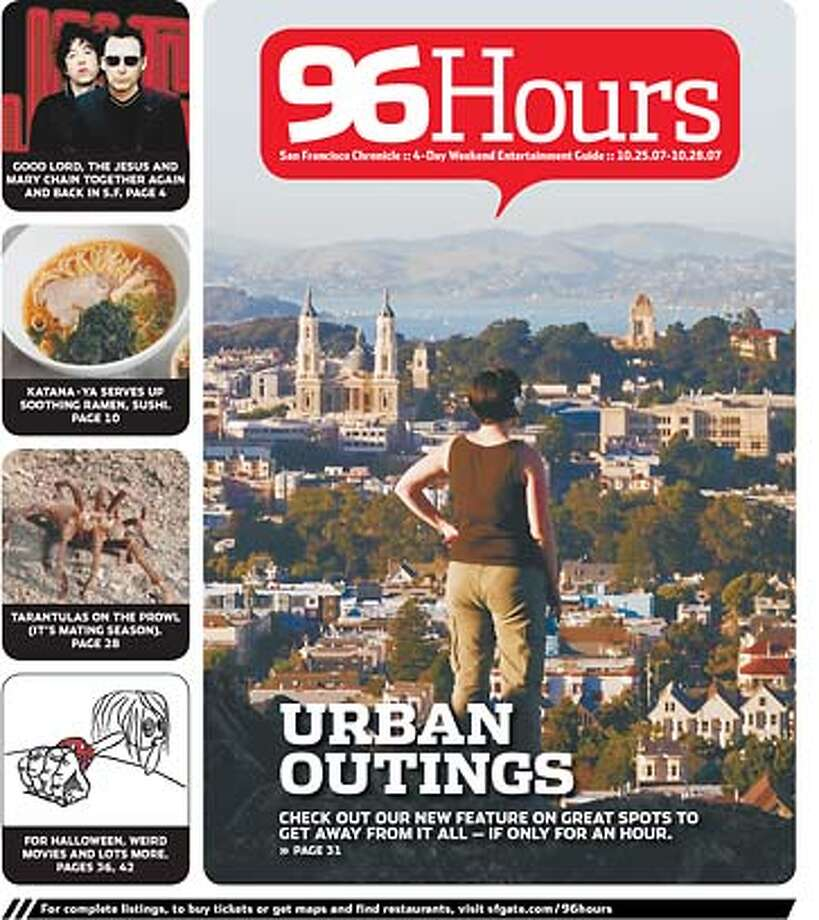 The cover of 96 Hours. Chronicle Graphic