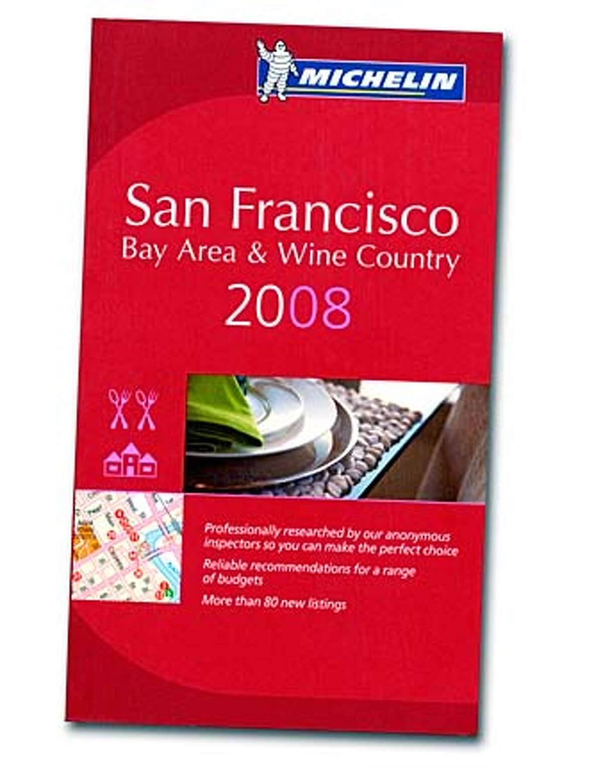 Cover of Michelin San Francisco Bay Area & Wine Country 2008 book. Scanned image