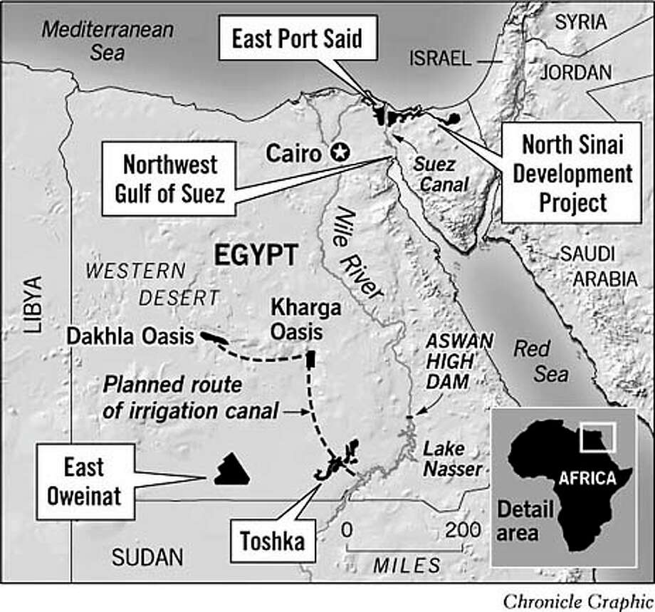 Desert Development Projects. Chronicle Graphic